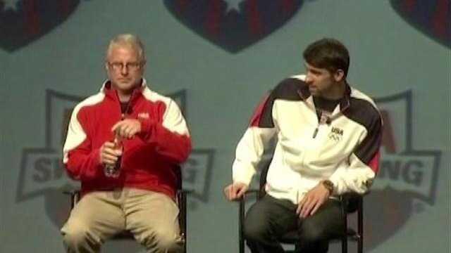 Michael Phelps with coach Bob Bowman