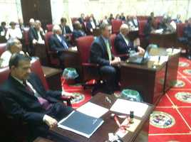 State lawmakers blame each other for not reaching a budget agreement during the regular session. (Photo: WBAL-TV\Chuck Cochran)
