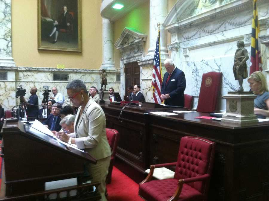 Lawmakers returned to Annapolis on Monday to again begin work on fixing the state's budget, likely via income tax increases and shifting teacher pension costs. (Photo: WBAL-TV\Chuck Cochran)