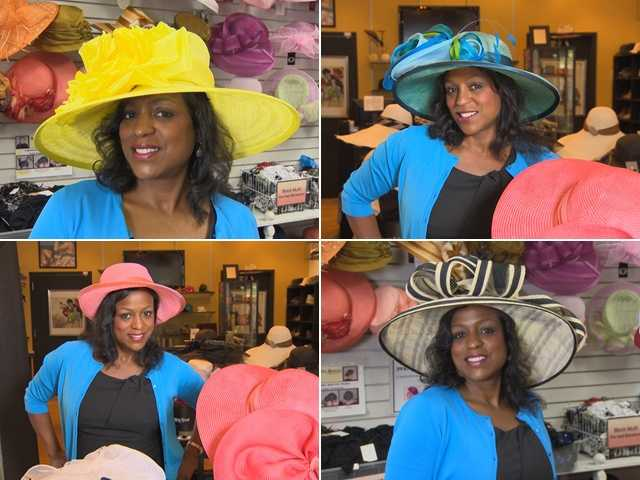 Lisa has four hats from which to choose for the 137th Preakness Stakes. Take a look at the photos, then text us your vote!