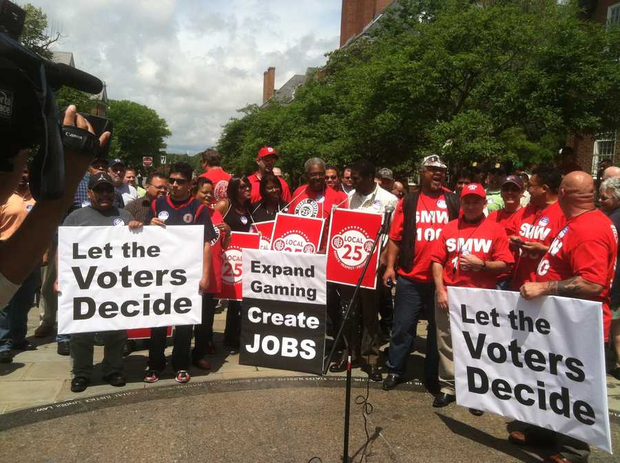 On Tuesday, a group rallied in favor of letting the voters decide on allowing a casino in Prince George's County.