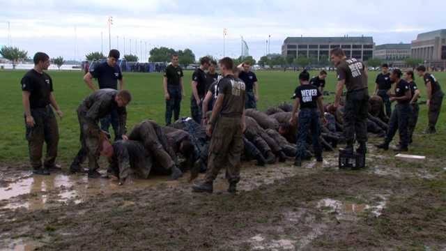 A two-mile regimental run, an obstacle course and a casualty evacuation comprise only some of the tasks looming 14 hours of rigorous physical and mental challenges.