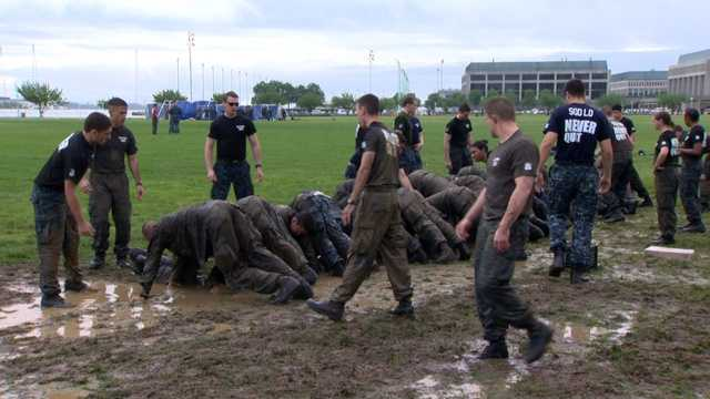 Sea Trials for the U.S. Naval Academy's freshman class took place Tuesday.