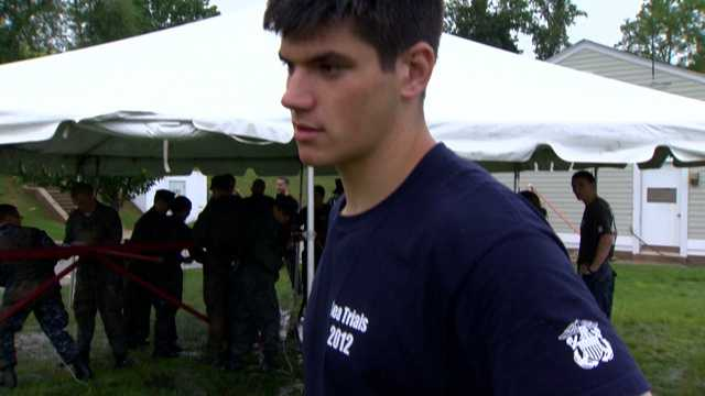 """""""It's important for them to learn how to deal with hard situations. They're going to be tested mentally and physically. They're going to get a lot of stress today, but they'll work through it,"""" said Midshipman David Dolinar."""