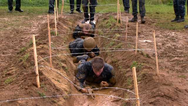 """""""It's awesome,"""" Midshipman Fisher said. """"Other people have to pay to do this, I get to do it for free."""""""
