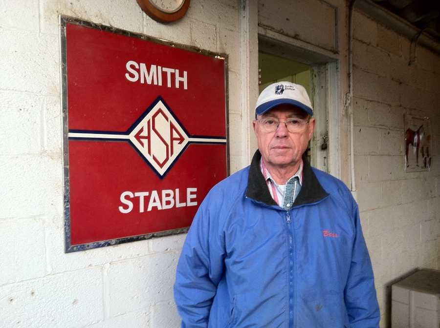 Done Talking's trainer, Hamilton Smith |WBAL-AM\Scott Wykoff
