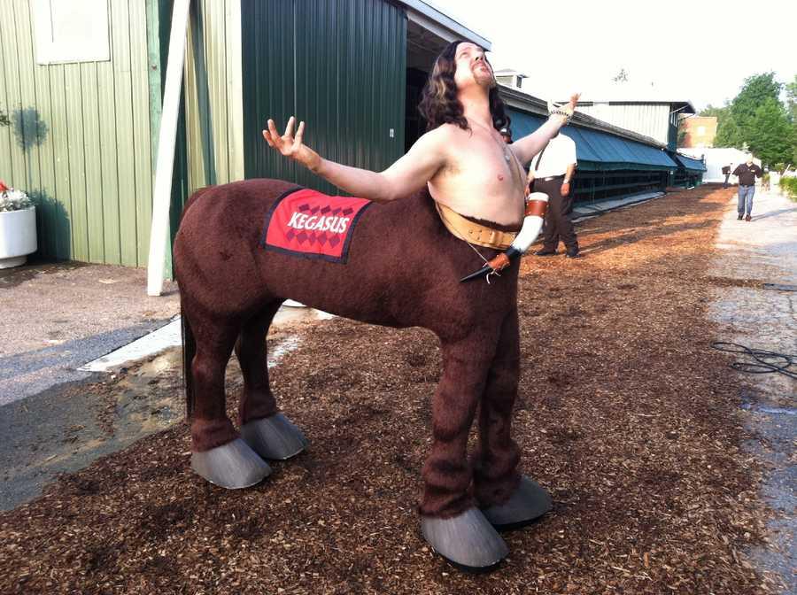 Infield mascot Kegasus returns for another year. |WBAL-AM\Scott Wykoff