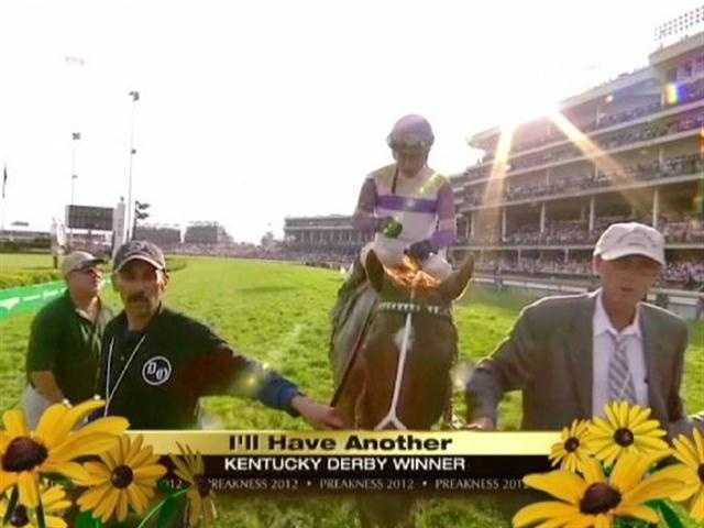 I'll Have Another comes out ahead of the Preakness.