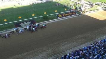 What an amazing finish! I'll Have Another edges out Bodemeister at the every end to win the 137th Preakness Stakes.