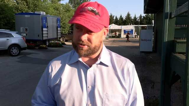 I'll Have Another trainer Doug O'Neill making sure his team is ready for The Belmont Stakes, bidding adieu to Baltimore.