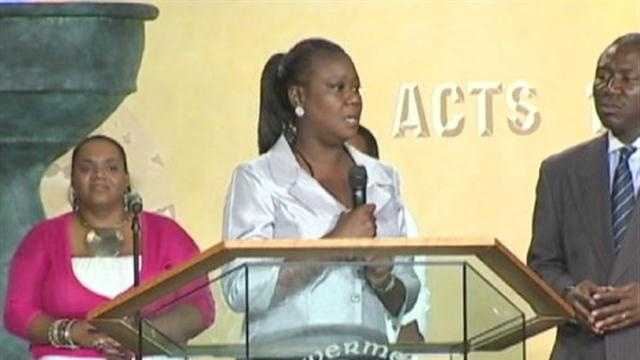 Sybrina Fulton, Trayvon  Martin's mother, visits Baltimore.