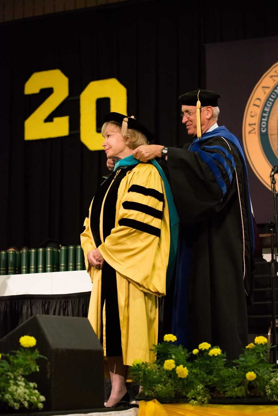 Commencement speakers and honorary degree recipients were Nancy S. Grasmick, Maryland's first female superintendent of schools ...
