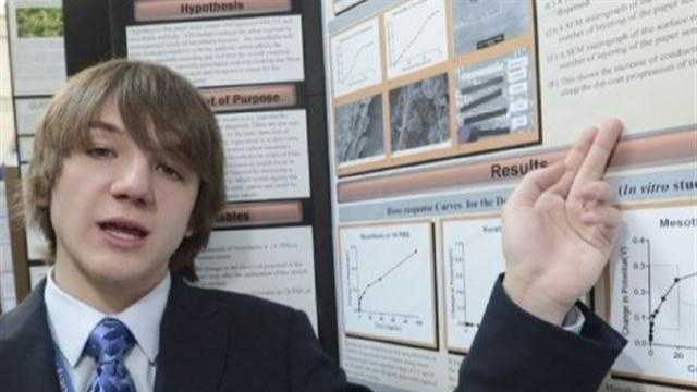 North County High School freshman Jack Andraka won what is considered the Olympics of science fairs with a diagnostic breakthrough in cancer treatment.