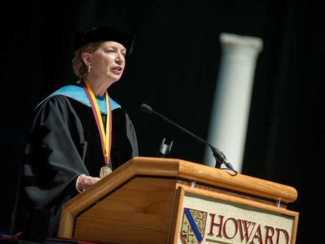 Among the graduates included Sean Keyman and Jonathan DeWald, two disabled-veterans who fought together unknowingly in the Iraq War, and met by chance in a history class at Howard Community College.