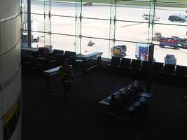 Jaime Franqui, a passenger on the plane, told 11 News that they were taken off the plane and to a food court.