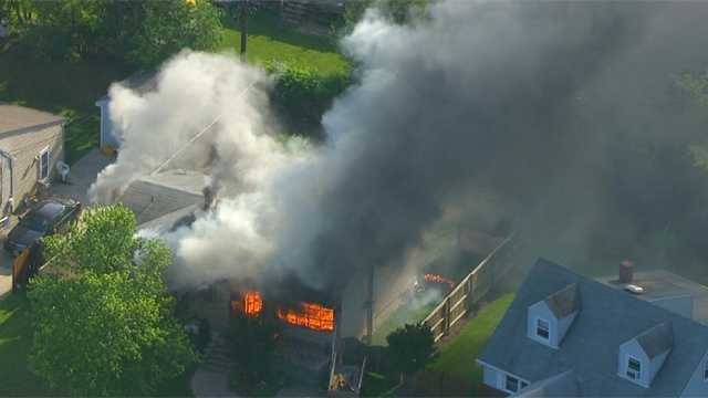SkyTeam 11 Capt. Roy Taylor reported the fire ignited at a house on Ridgewick Road in Glen Burnie shortly after 5:30 p.m. Thursday. (Read the full story here)