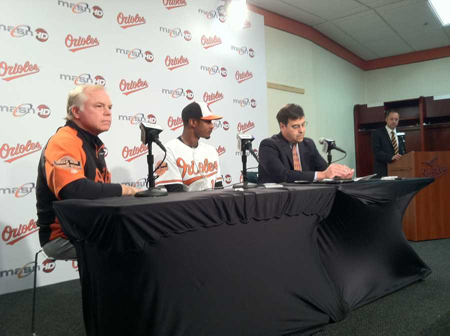 Adam Jones agrees  to a record-breaking contract extension with the Baltimore Orioles.