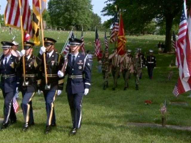 The traditional ceremony salutes those who have fallen in the Armed Forces, especially those killed since May 2011 while serving in Operation Iraqi Freedom and and Operation Enduring Freedom in Afghanistan.
