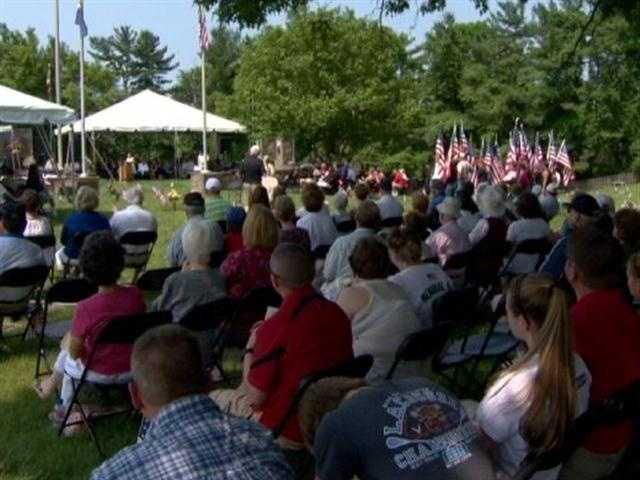 One of the largest observances took place at Dulaney Valley Memorial Gardens in Timonium.