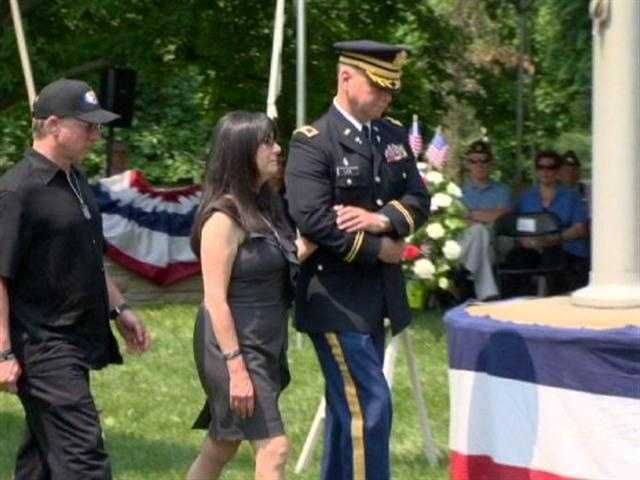 A plaque was presented to family members of those Marylanders who died in the line of duty last year.