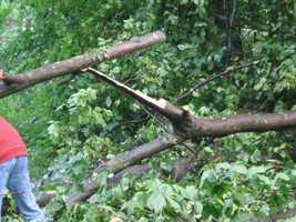 Damage in New Windsor.