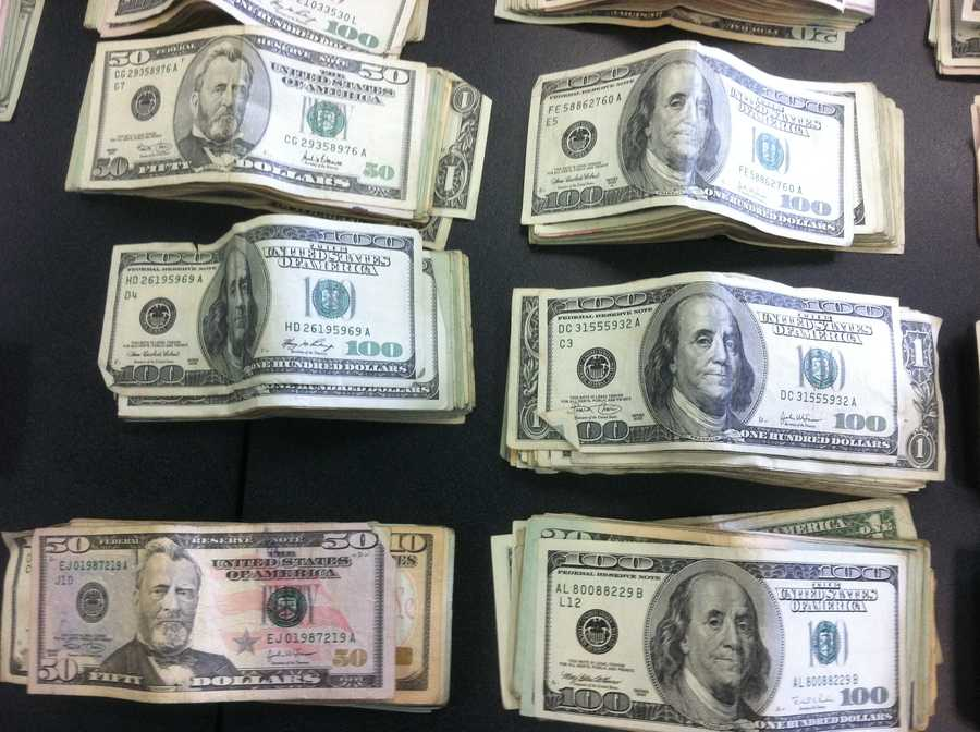 Police say they also found about $20,000 in cash.