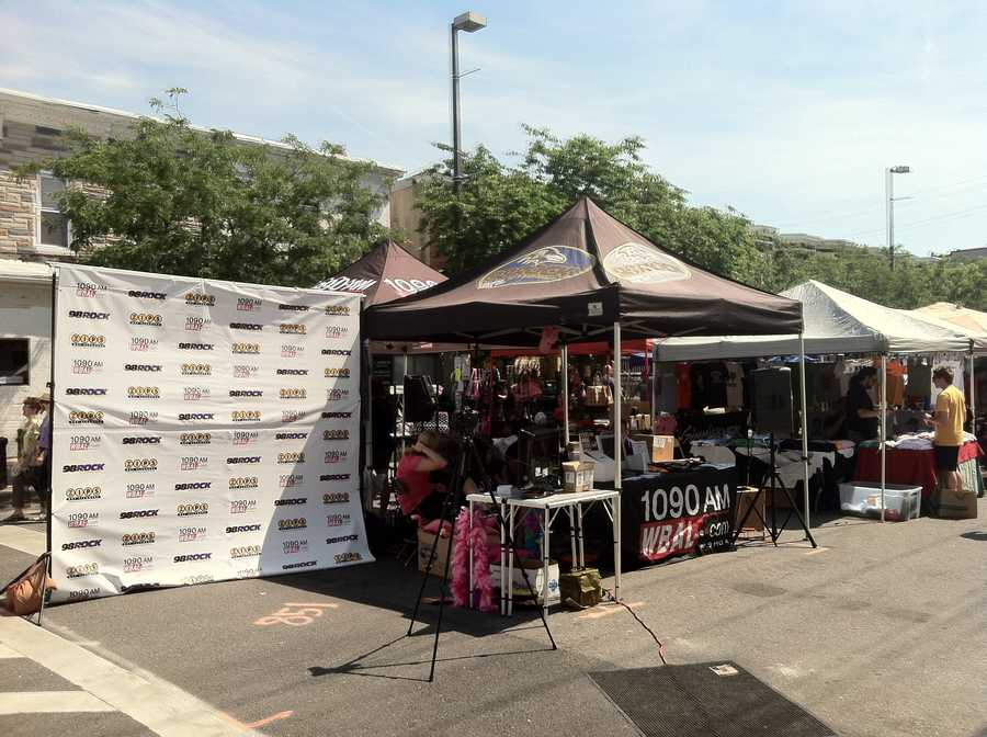 The WBAL-TV and 98 Rock tents.