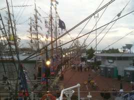 The 249-foot tall ship was built in 1998.