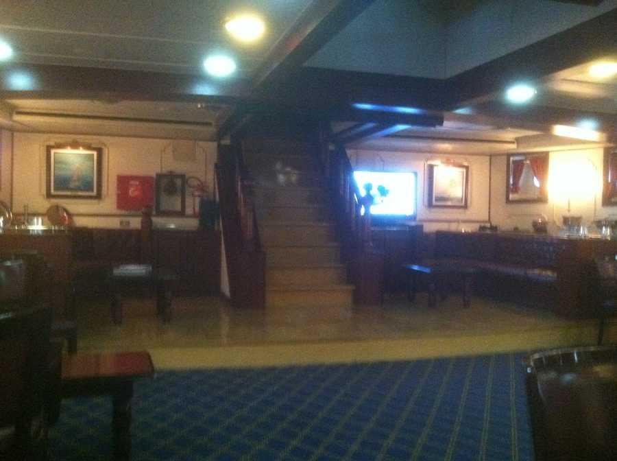 Inside the ship.