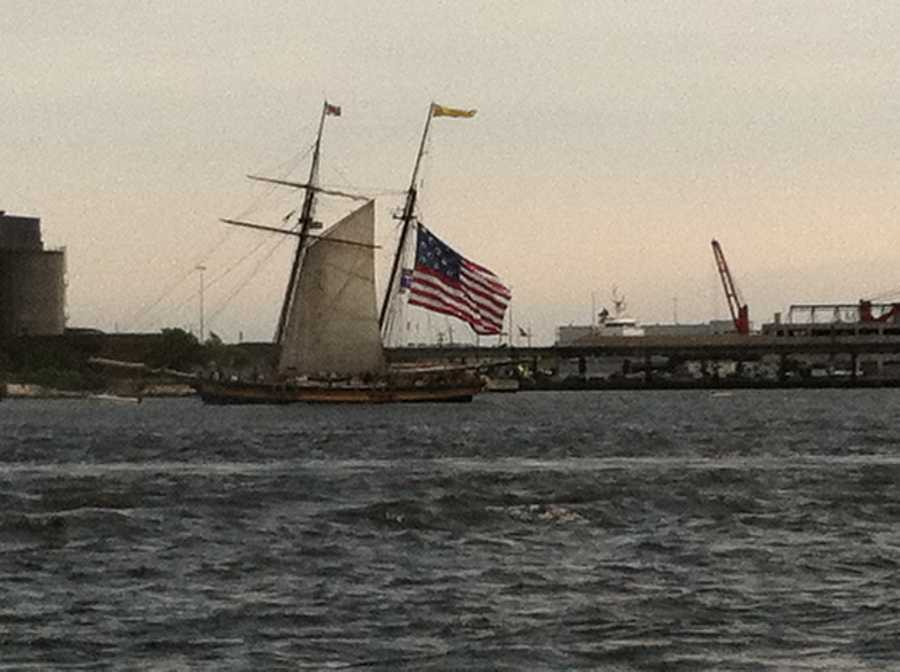 In Baltimore Harbor off of Fort McHenry.