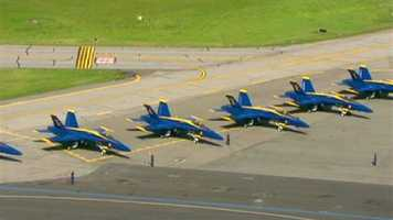 The U.S. Navy's Blue Angels are in town for a stunning show during the Star-Spangled Sailabration festivities.