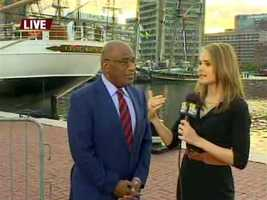 Ava Marie gets to talk with The Today Show's Al Roker, who was in town for Baltimore's Star-Spangled Sailabration.