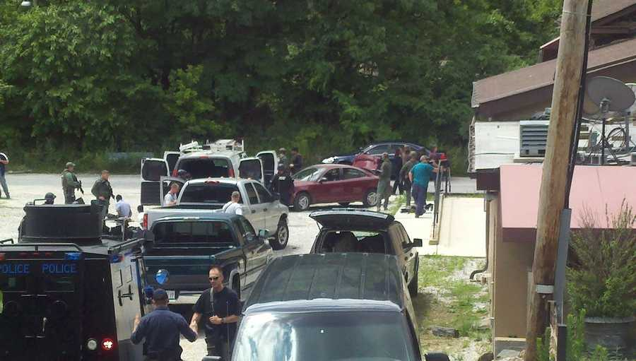 As agents and officers moved in to try to make the arrests, authorities said four of the six suspects tried to flee in a red car, not before attempting to hit two ATF agents who were on foot.