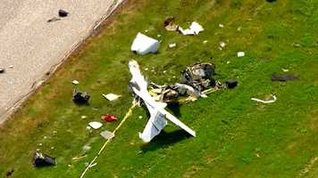 Sky Team 11 video shows the plane in pieces on the ground.