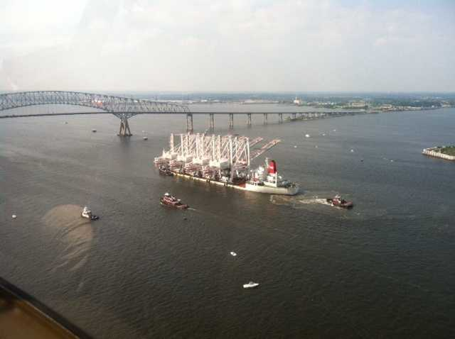 Shortly after 4:30 p.m., the vessel reached the Key Bridge, stopping traffic above during the rush hour.