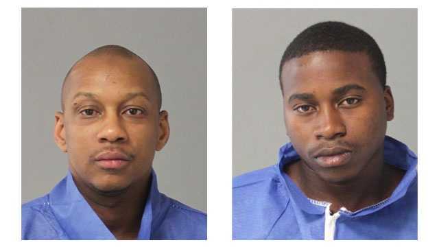 Anne Arundel County police said Rondell Dorsey, 31, of Glen Burnie, (pictured left) was charged with disorderly conduct, disturbing the peace and failure to obey a lawful order. Police said Linwood Hall, 22, of Annapolis, (pictured right) was charged with disorderly conduct and disturbing the peace.