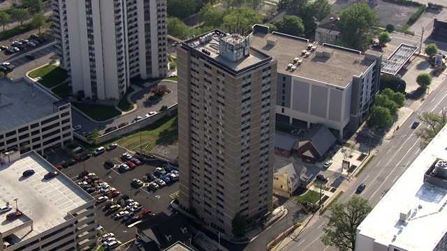 Next, SkyTeam 11 flew to Towson to take a look at the county's tallest buildings, including the Teachers Association of Baltimore County building on Joppa Road.