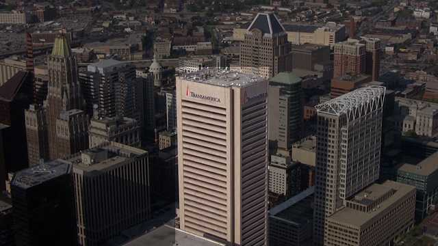 The tallest building in Baltimore City is the Transamerica (formerly Legg Mason, before that, it was USF&G), constructed in 1973. It stands at 529 feet.