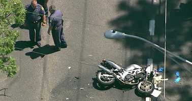 The crash happened around 10:45 a.m. along Harford Road between Route 152 and the Baltimore County line.