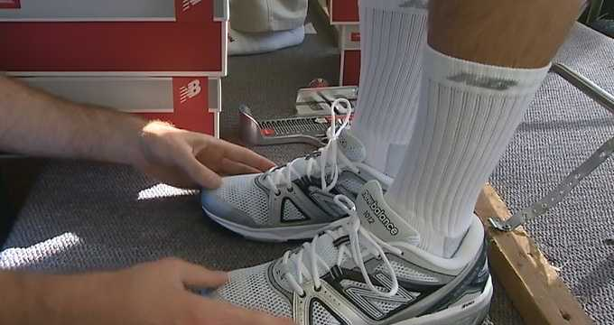 The plebes are also fitted for the right tennis shoes.