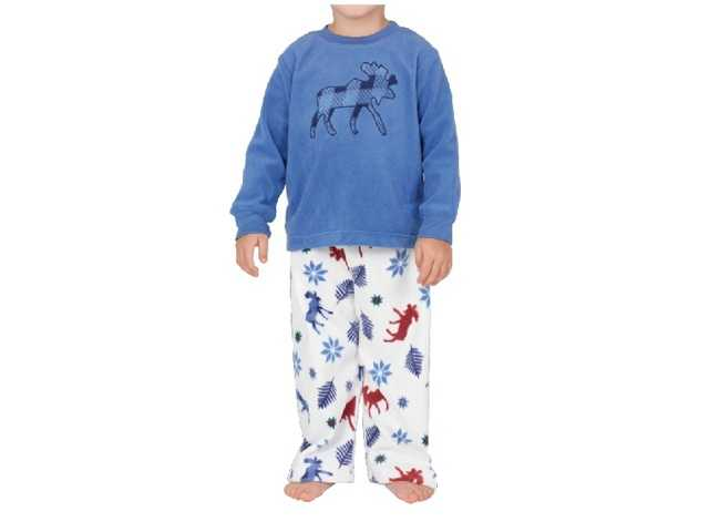 The below style/GPU number is printed on a second tag sewn into either the neck or side of the pajamas and the pajama pants.