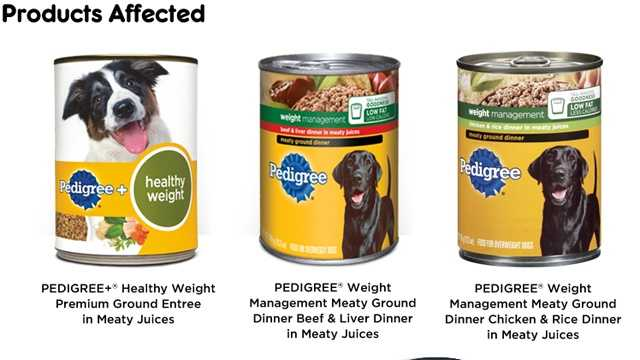 Giant recalled dog food