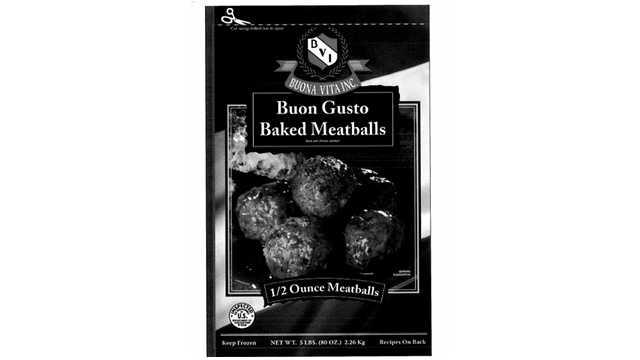 Frozen meatball recall