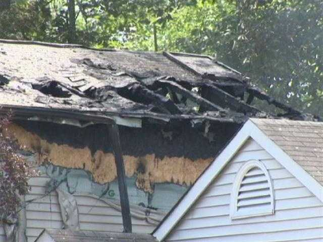 Officials said the woman had injuries from the fire and was pronounced dead at the scene.
