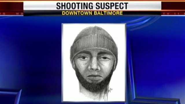 Police are looking for this man in connection with a shooting at a hotel in downtown Baltimore.