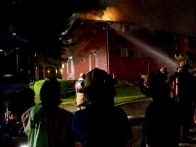 The blaze started early Sunday morning at the Gardenview Apartment complex on Glen Michael Lane.