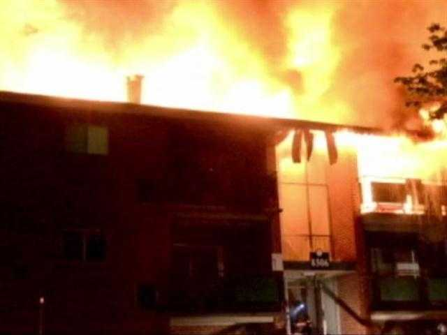 Video taken by a bystander and provided by 11 News viewer Michael Schwartzberg showed the magnitude of what firefighters faced.