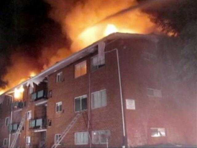 The cause is still under investigation, but fire officials said they think it may have started in a third-floor unit and spread to the attic, destroying 24 apartment units.