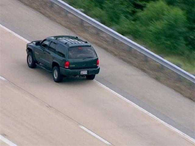 SkyTeam 11 spotted this sport utility vehicle driving at a high rate of speed out of downtown Baltimore on Thursday.