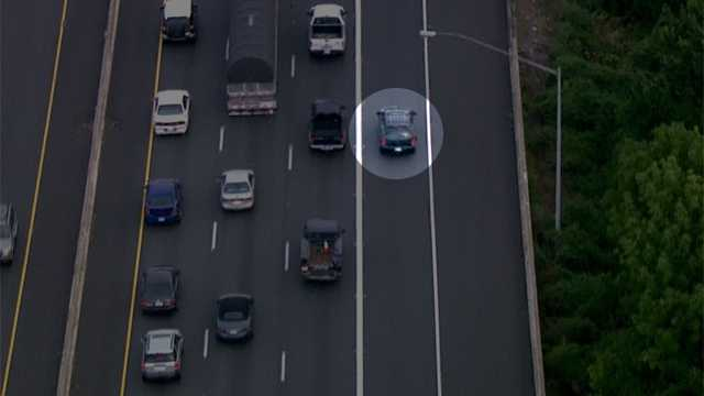 Although city officers did not pursue the vehicle, SkyTeam 11 observed the SUV speeding along Interstates 395, 95, 695 and 97.